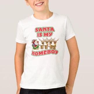 Funny Santa Is My Homeboy T-Shirt