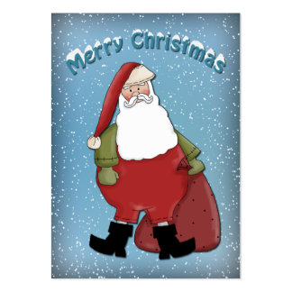 Funny Santa Large Business Card