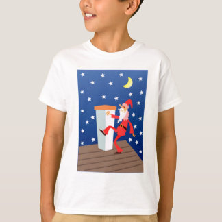 Funny Santa On The Roof T-Shirt