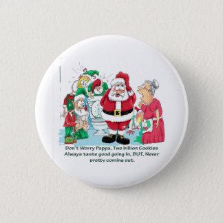 Funny Santa picture Button