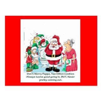 Funny Santa picture Postcard