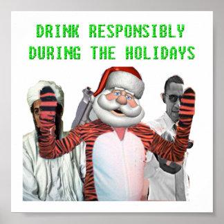 Funny Santa Poster