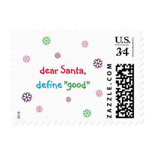 Funny Santa Quote Christmas Holiday Postage Stamp at Zazzle