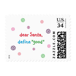 Funny Santa Quote Christmas Holiday Postage Stamp