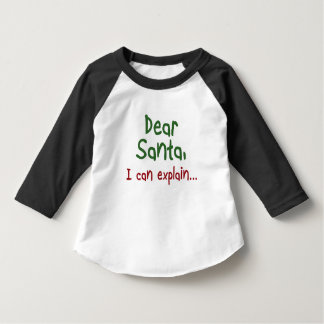 Funny Santa quote Toddler Christmas kids clothing T-Shirt