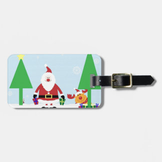 Funny Santa & Reindeer Bag Tag