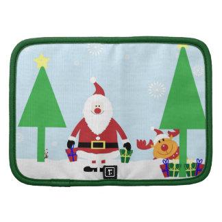 Funny Santa & Reindeer Folio Planner