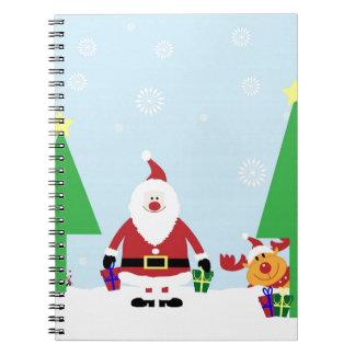 Funny Santa & Reindeer Note Book