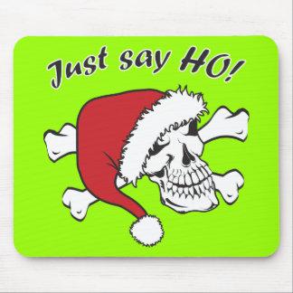 Funny Santa Skull Mouse Pad