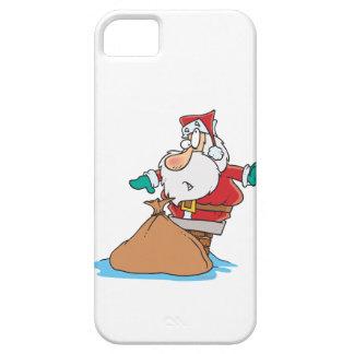 funny santa stuck in chimney cartoon iPhone 5 cases