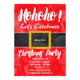 Funny Santa suit ho ho ho Christmas party 5x7 Paper Invitation Card