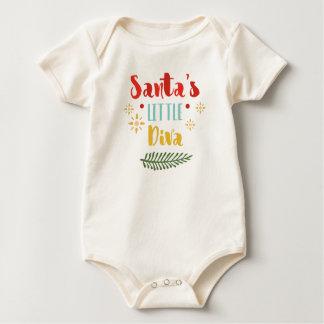 Funny Santa's Little Diva Christmas | Bodysuit
