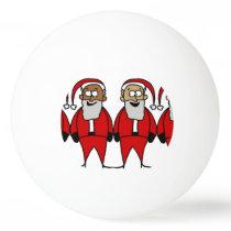 Funny Santas Ping-Pong Ball