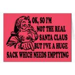 Funny Santa's sack Cards