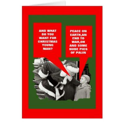 Funny Sarah Palin nude Christmas Cards by BIGNUMPT