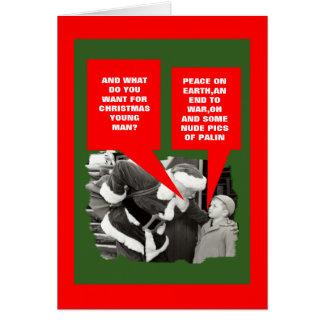 Funny Sarah Palin nude Christmas Card