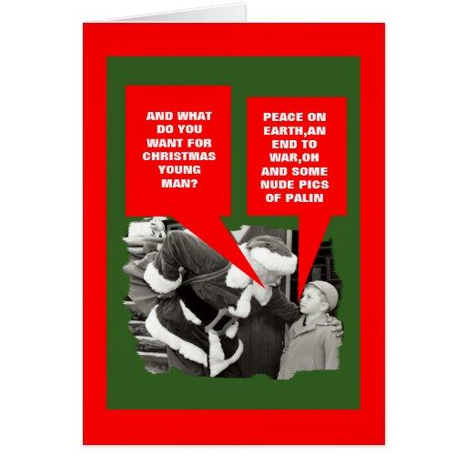Funny Sarah Palin nude Christmas Cards