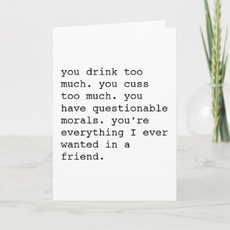 Funny sarcastic will you be my bridesmaid card