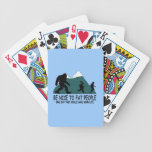 Funny Sasquatch Bicycle Poker Cards