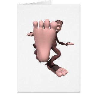 funny sasquatch bigfoot greeting card