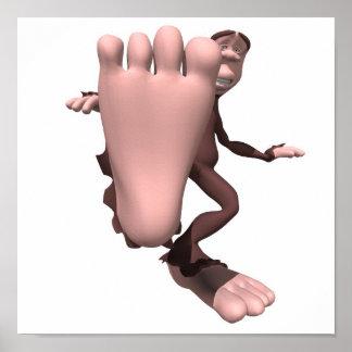 funny sasquatch bigfoot poster