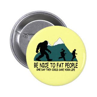 Funny Sasquatch Pinback Button