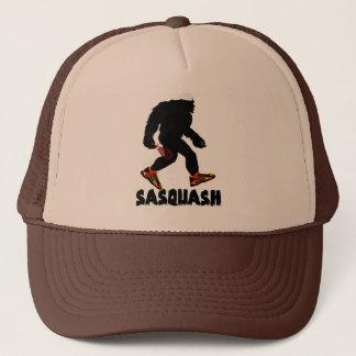 Funny Sasquatch Squash Sport Design Trucker Hat