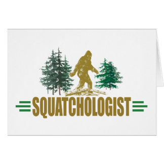 Funny Sasquatch Stationery Note Card