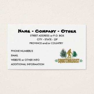 Funny Sasquatching, Sasquatch Hunter's Business Card