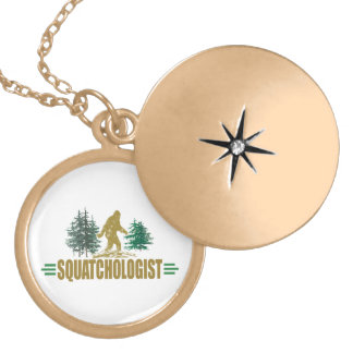 Funny Sasquatching, Sasquatch Hunter's Gold Plated Necklace