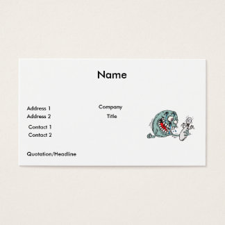funny savage hungry bowling ball humor business card
