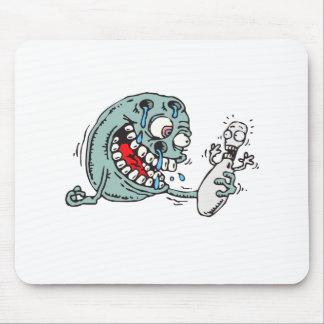 funny savage hungry bowling ball humor mouse pad