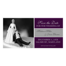 Funny Save The Date Announcements {purple} at Zazzle