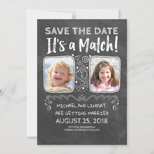 Adorable Chalkboard Save the Date Cards