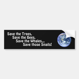 Funny Save The Planet Bumper Stickers