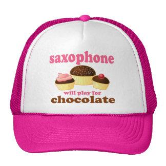 Funny Saxophone Chocolate Hat