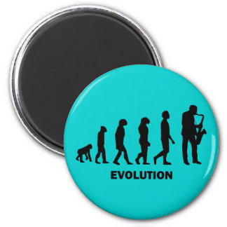 funny saxophone player 2 inch round magnet