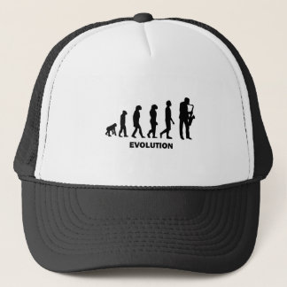 funny saxophone player trucker hat