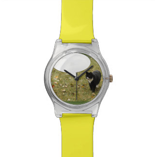 Funny Say Something Kitty Wristwatches