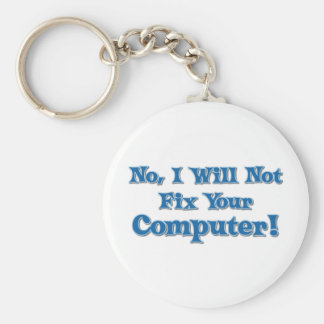 Funny Saying about Computers Basic Round Button Keychain