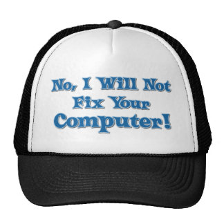 Funny Saying about Computers Mesh Hats