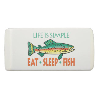Funny Saying about Fishing Eraser