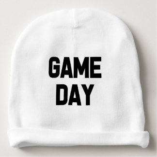 Funny saying Game Day baby boy hat