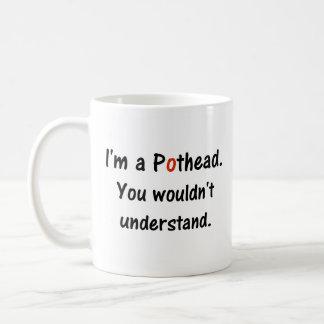 Funny Saying Pothead Red Black Coffee Mug