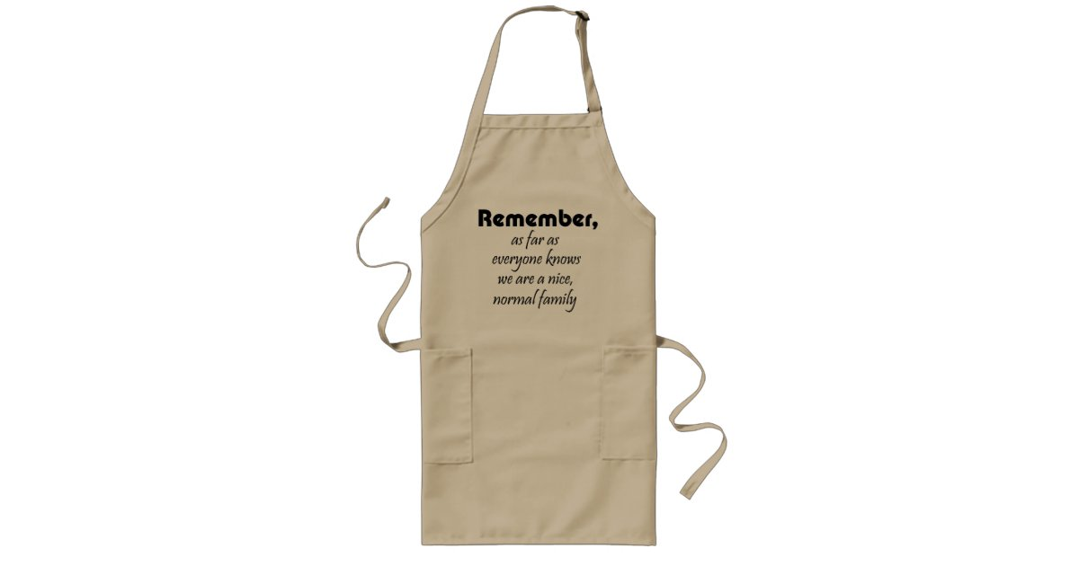 Funny sayings aprons family quote joke mom gifts | Zazzle.com