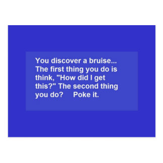 FUNNY SAYINGS BRUISE POKES LAUGHS COMMENTS POSTCARD