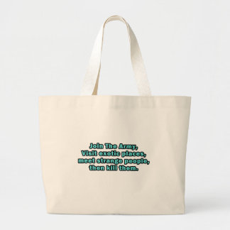Funny Sayings on T-Shirts and Gifts Large Tote Bag