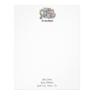 Funny Sayings Quote - Bird – it's the word Letterhead