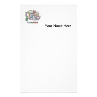 Funny Sayings Quote - Bird – it's the word Stationery