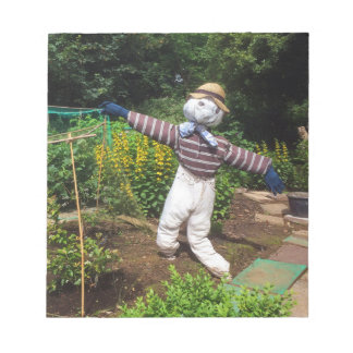 Funny scarecrow notepad